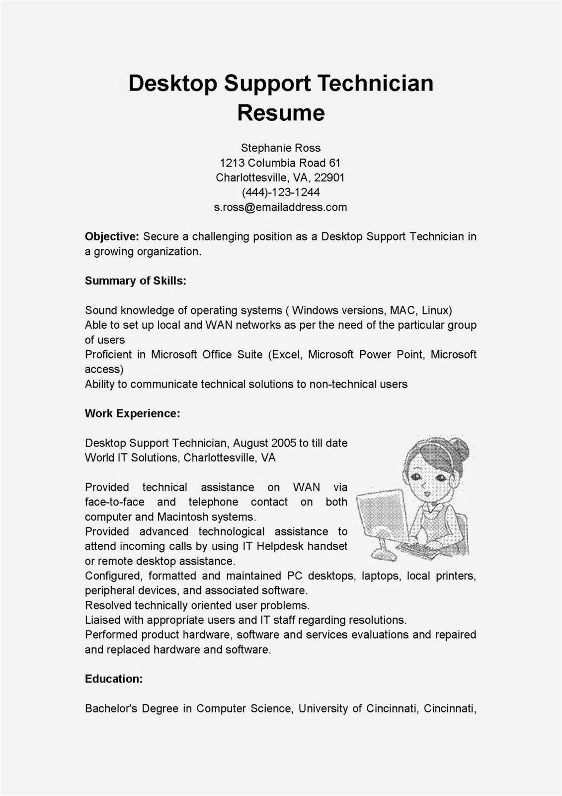 Best Desktop Support Technician Resume Sample Resume Samples Desktop Support Technician Resume Sample