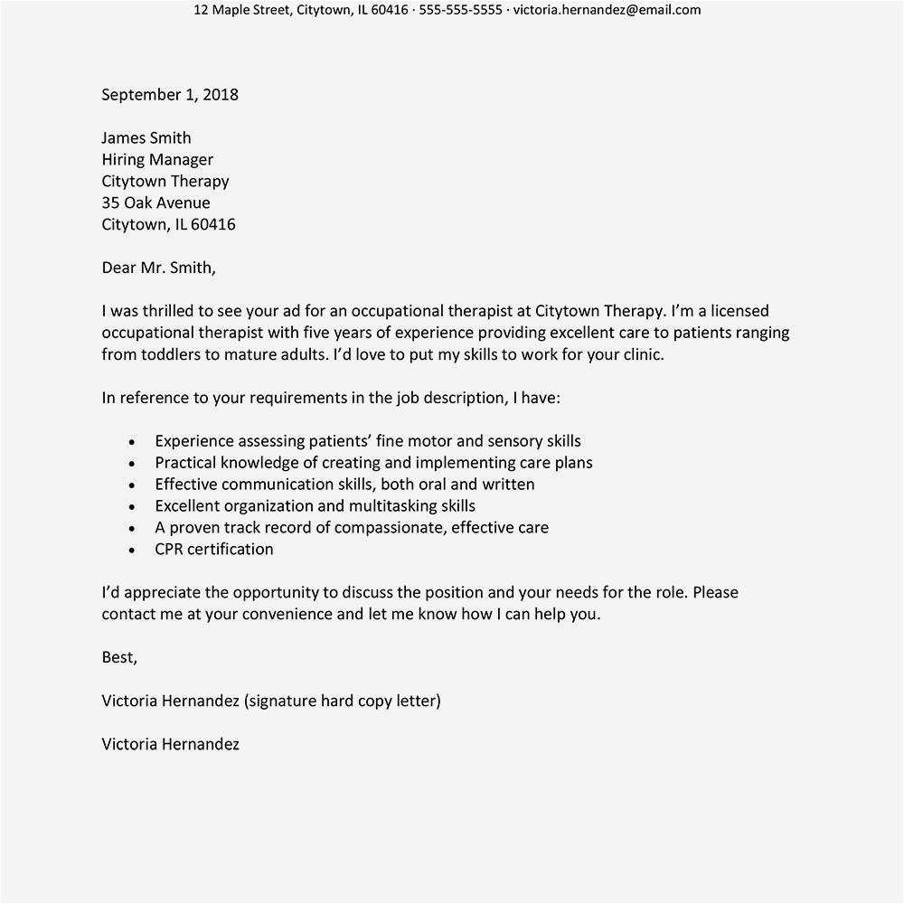 best cover letters 2018