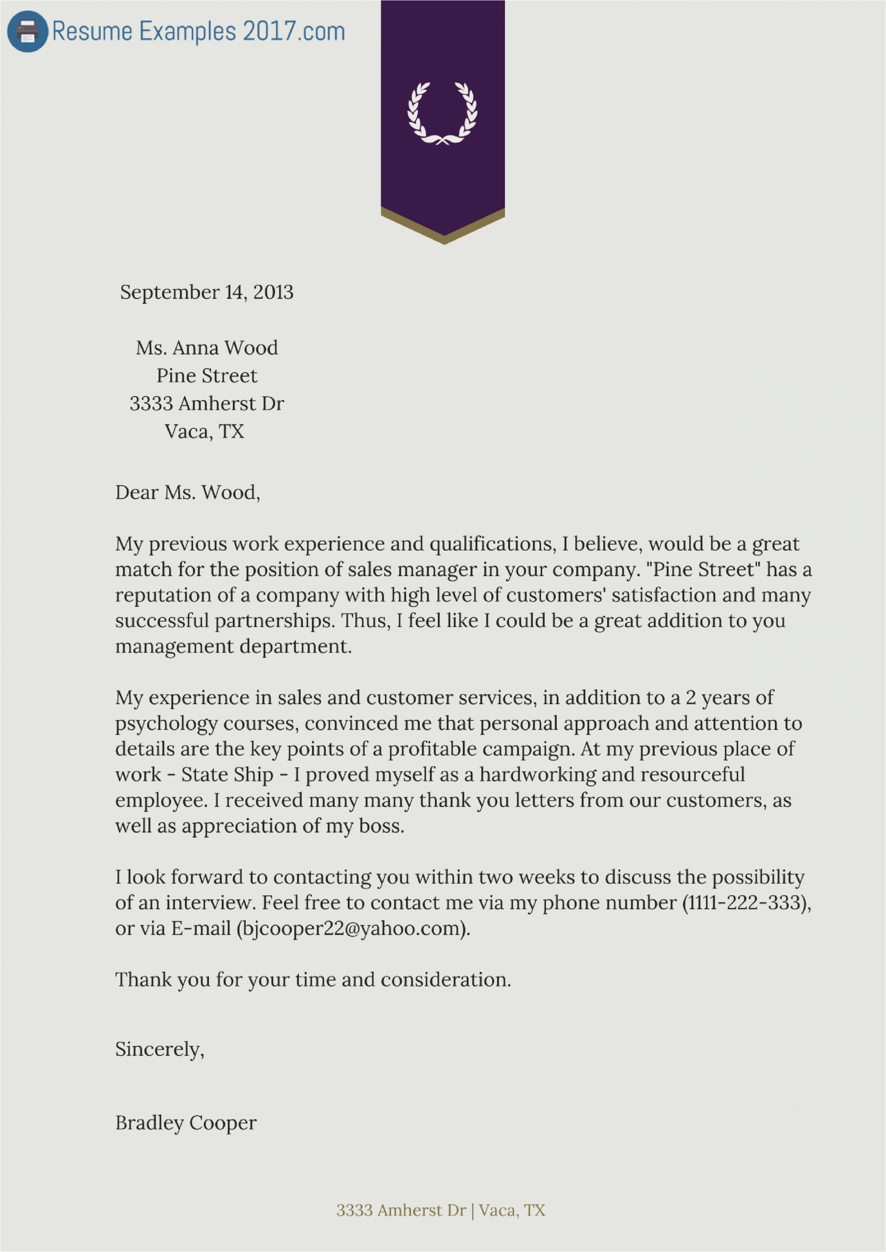 Best Resume and Cover Letter Samples Finest Cover Letter Resume Examples