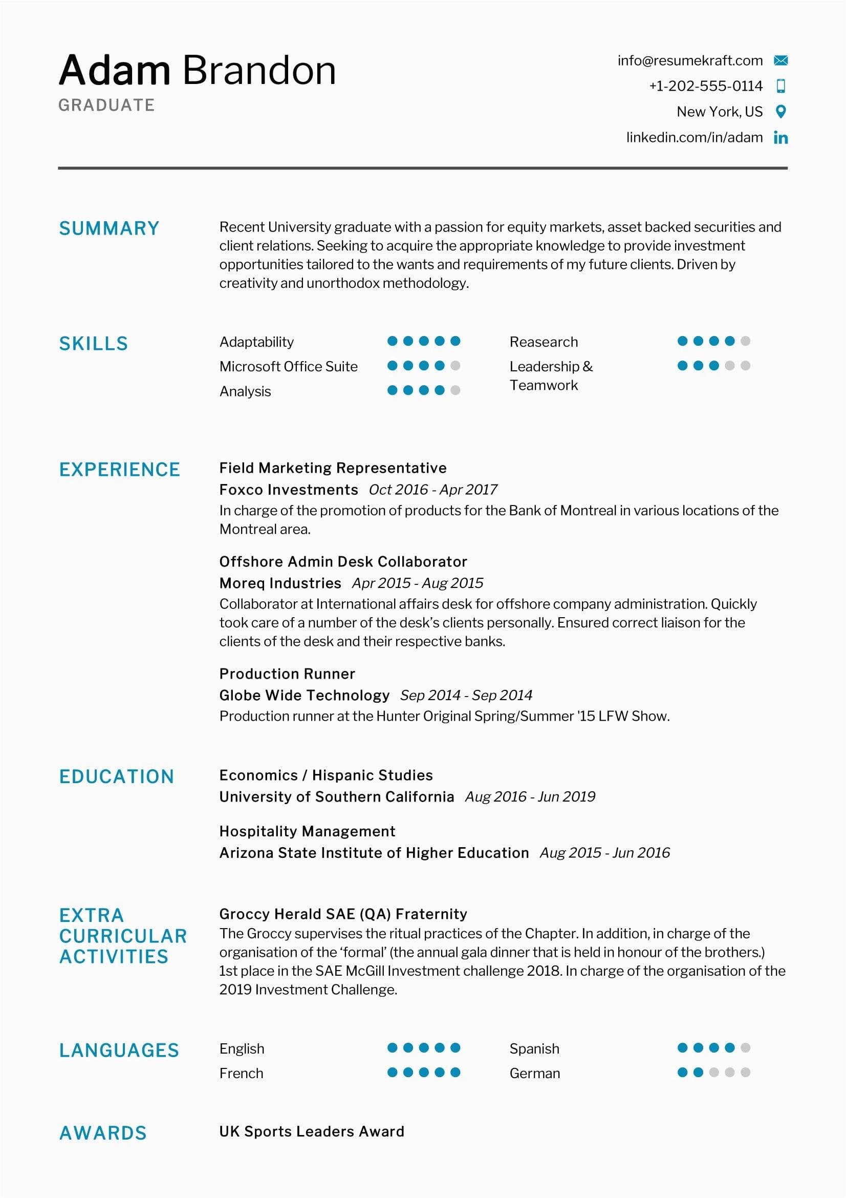 Best Resume Sample for Fresh Graduate Fresh Graduate Resume Sample 2021 Resumekraft