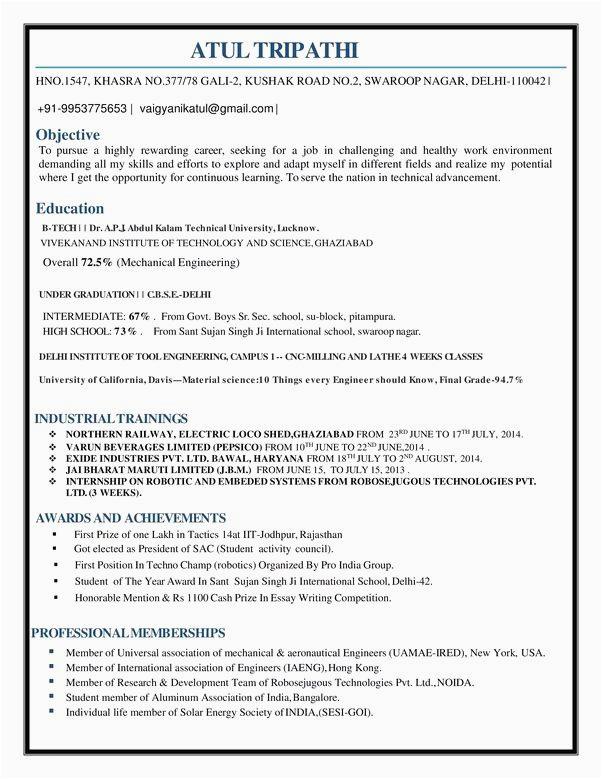 sample resume for civil engineer fresh