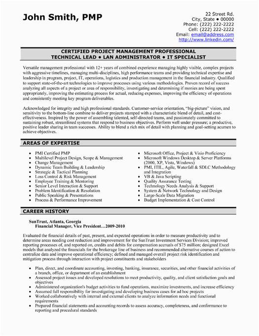 finance resume samples