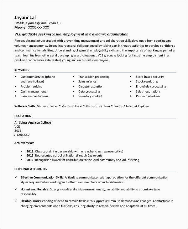 first job resume templates