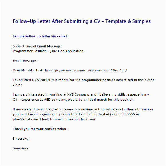 Follow Up Email after Resume Sent Sample Free 5 Sample Follow Up Emails In Pdf