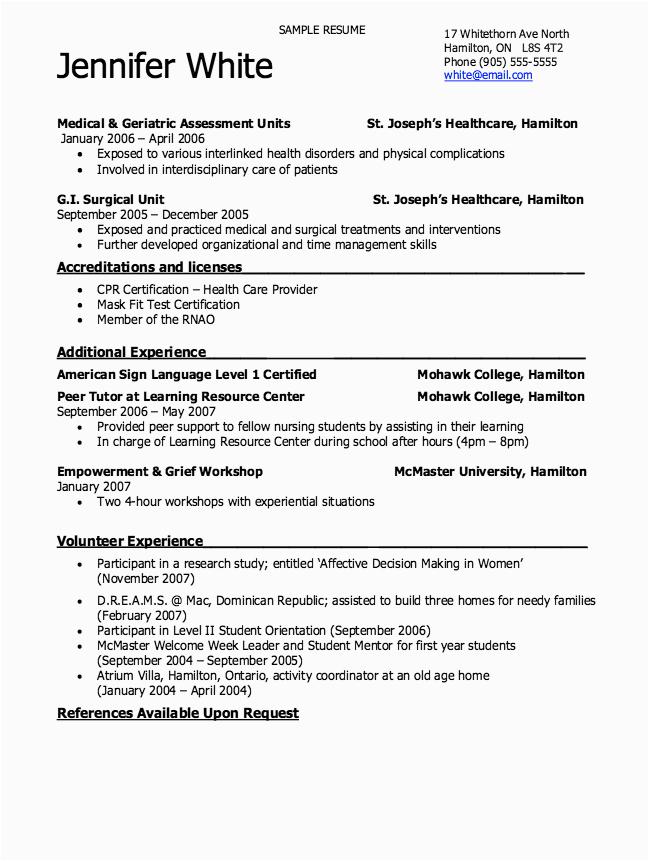 patient care technician resume nursing