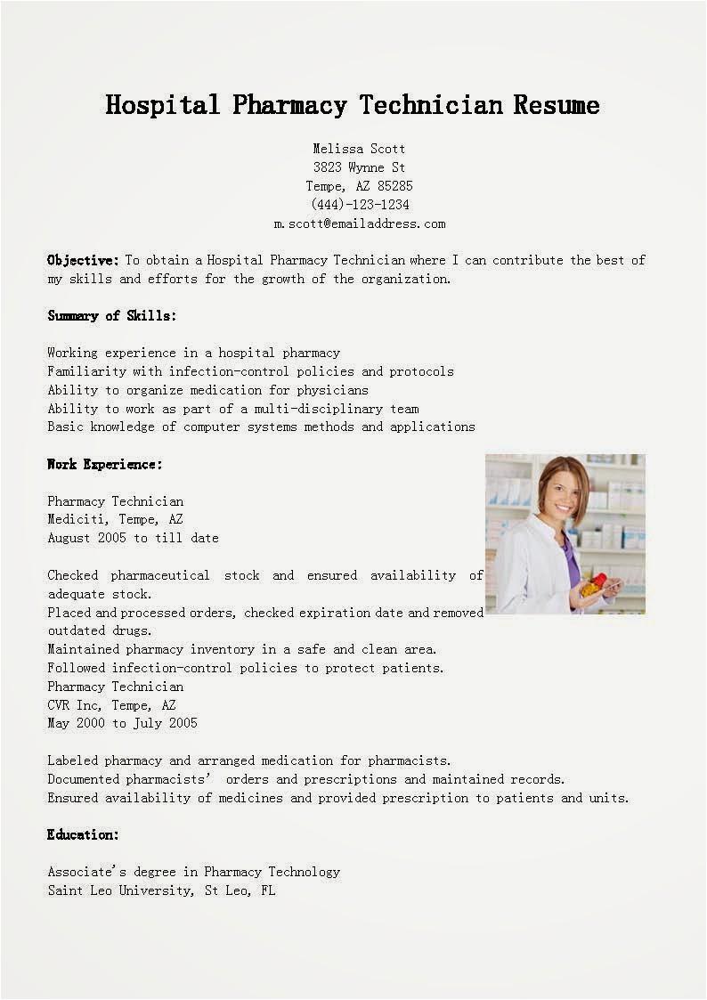 Pharmacy Technician Resume Sample for Hospital Resume Samples Hospital Pharmacy Technician Resume Sample