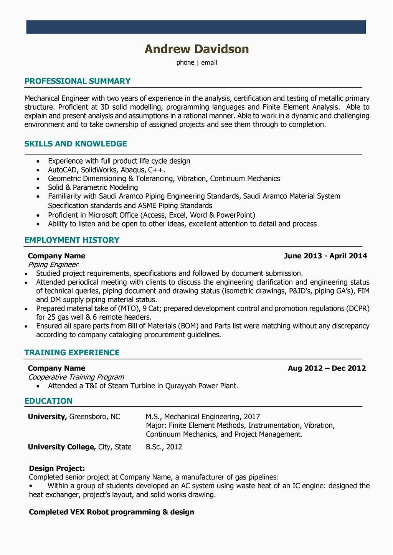 power plant electrical engineer resume