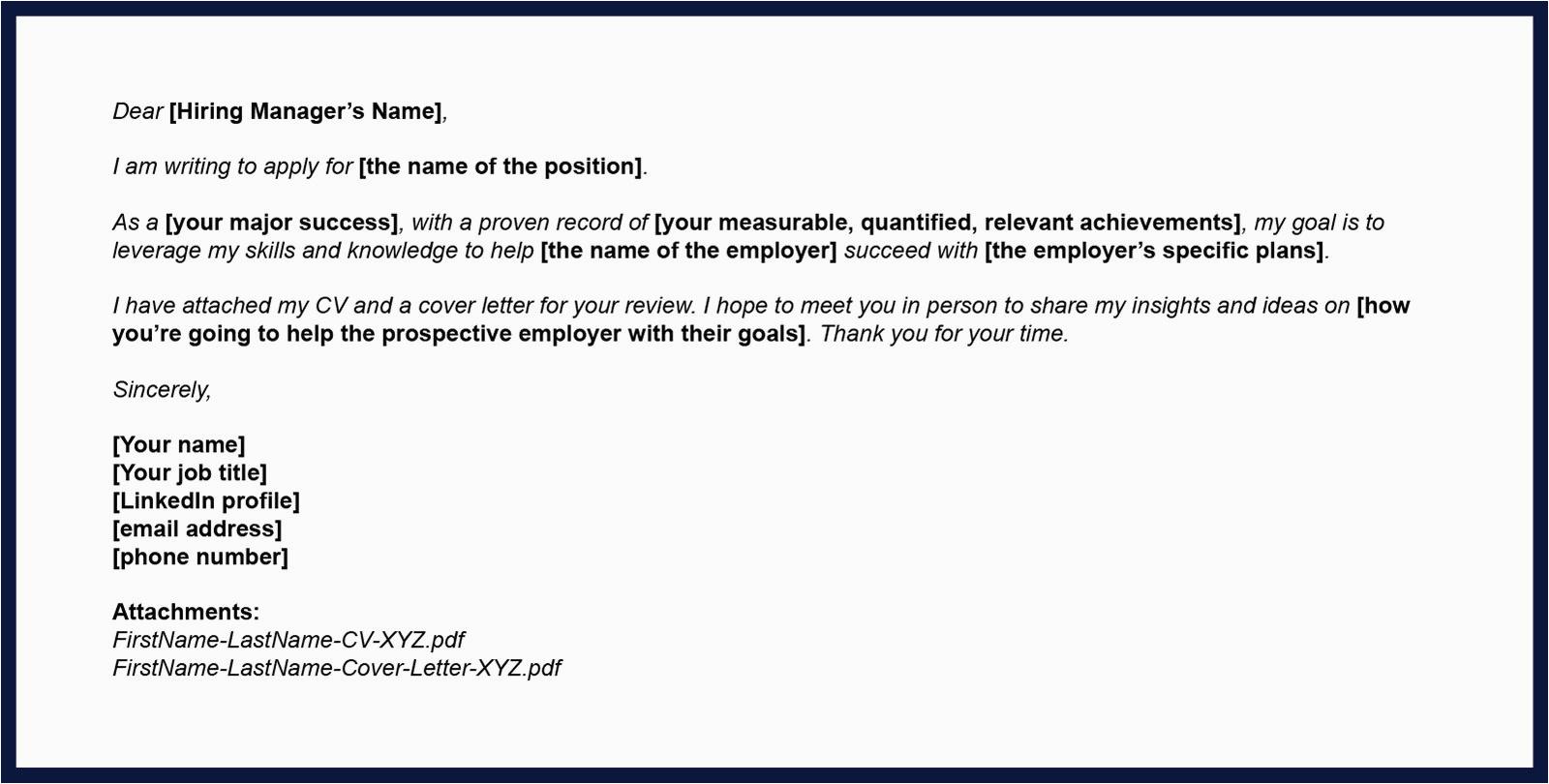 tips sending cv via email