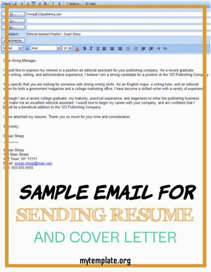 sample email for sending resume and cover letter of 6 easy steps for emailing a resume and cover letter