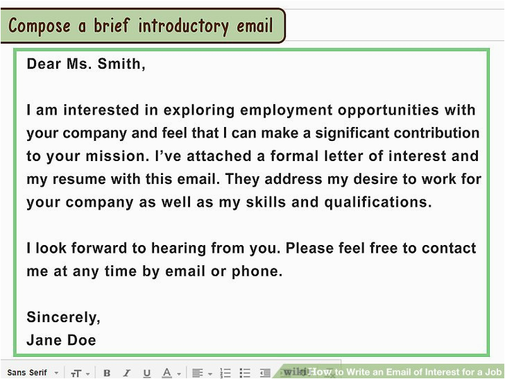 emailing a resume to a potential employer