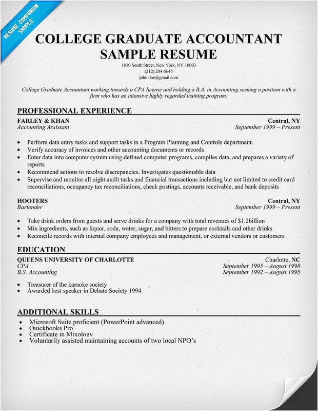 college student accounting sample