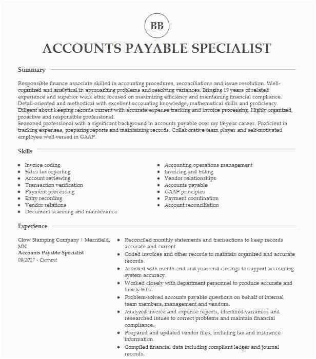 accounts payable specialist d6d3e6a21ab248bfb e76e58a