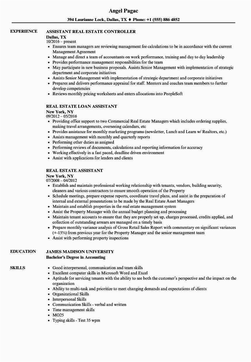 Sample Resume for Administrative assistant In Real Estate Real Estate assistant Resume Samples Velvet Jobs