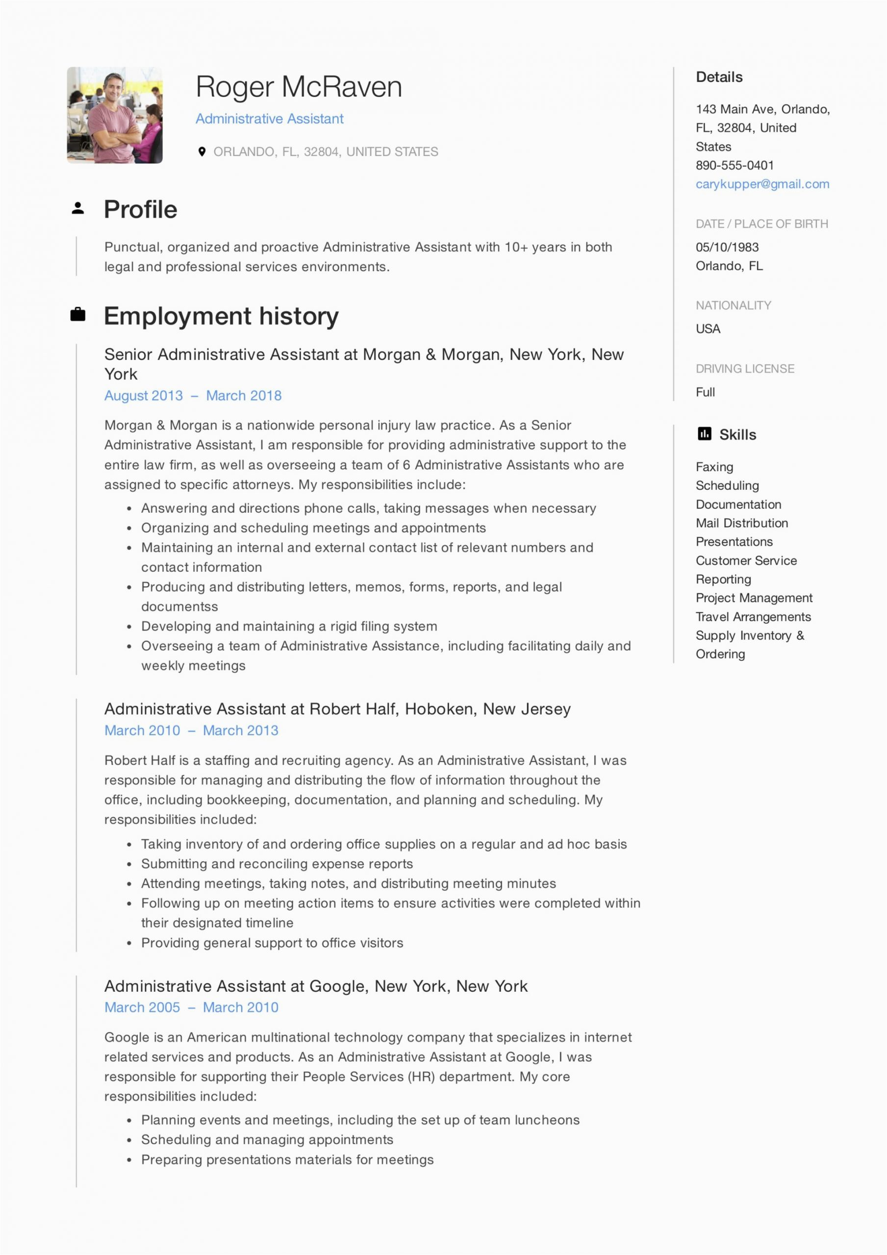 Sample Resume for Administrative assistant Pdf Full Guide Administrative assistant Resume [ 12 Samples