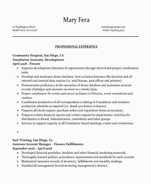 sample resume for office assistant with