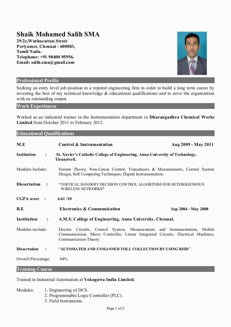 electrical engineer resume new graduate