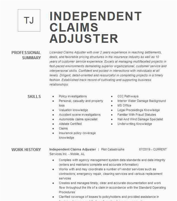 entry level insurance claims adjuster