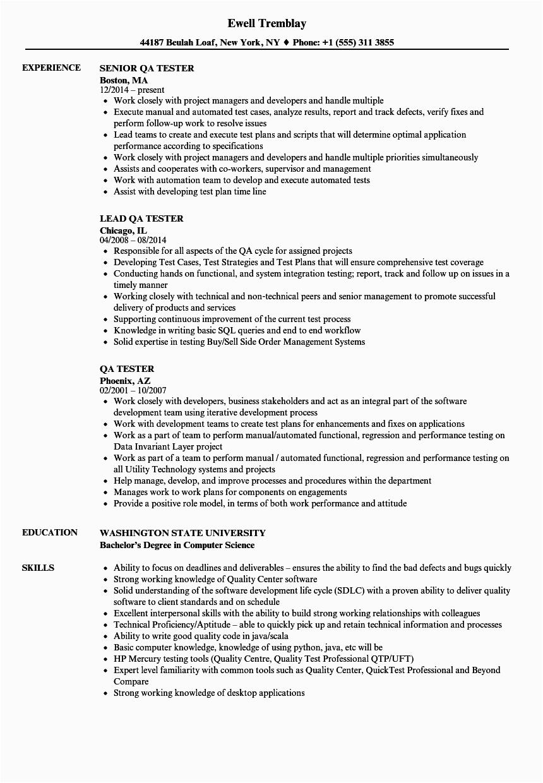 12 13 qa testing resume samples
