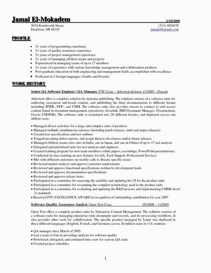 Sample Resume for Net Developer with 5 Year Experience 5 Years Testing Experience Resume format