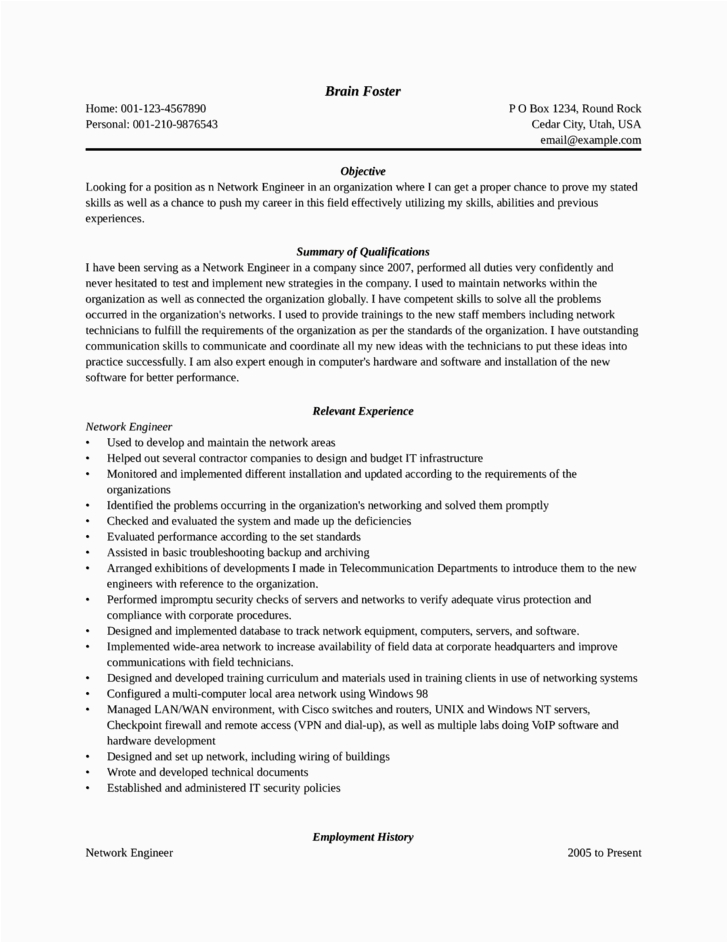 entry level freshers network administrator resume templates and samples