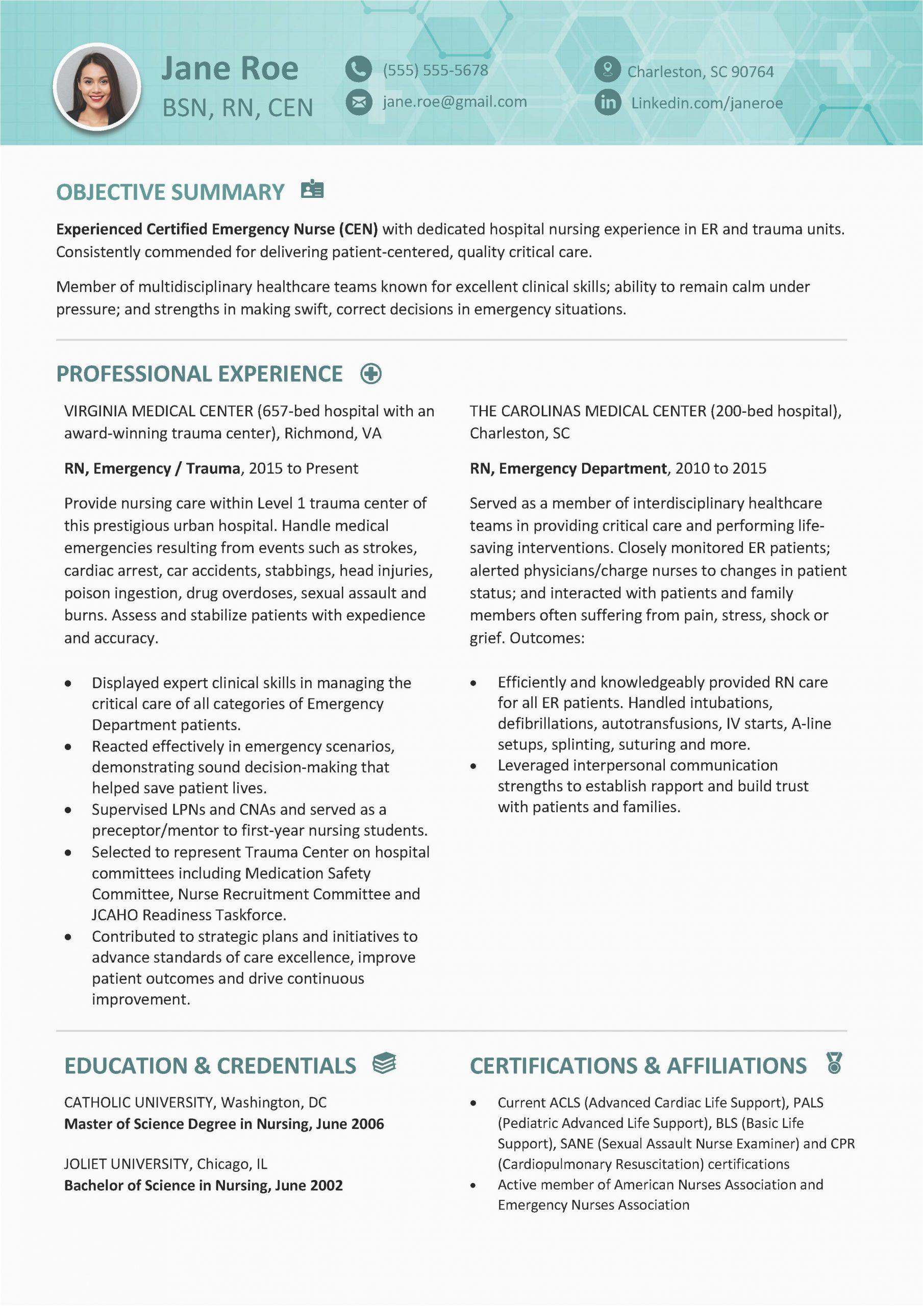 registered nurses resume template