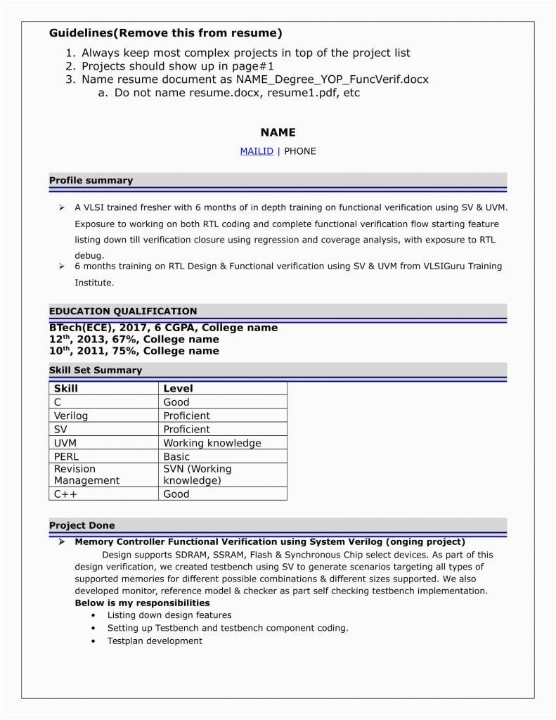 vlsi physical design engineer resume