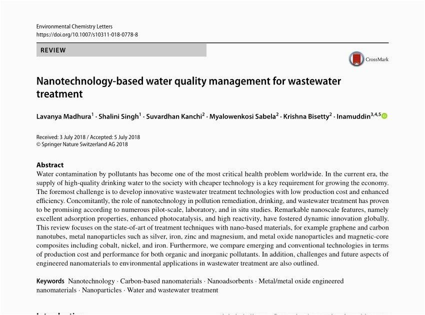 wastewater treatment engineer resume
