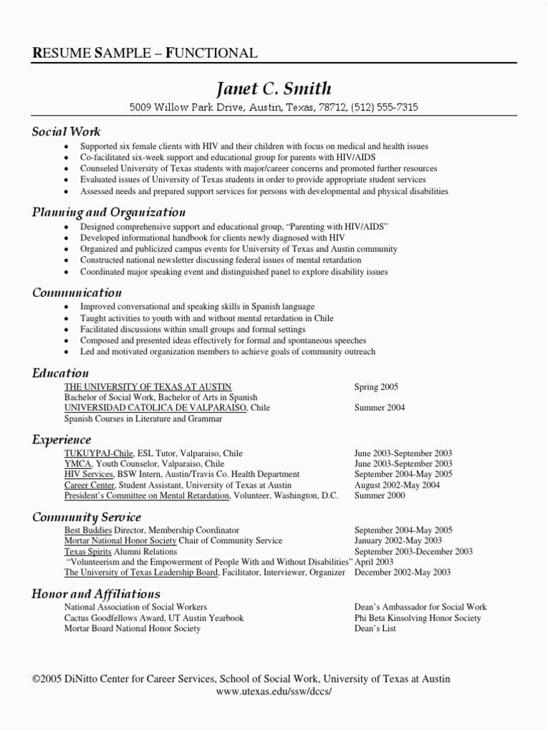 RESUME SAMPLE SOCIAL WORK pdf