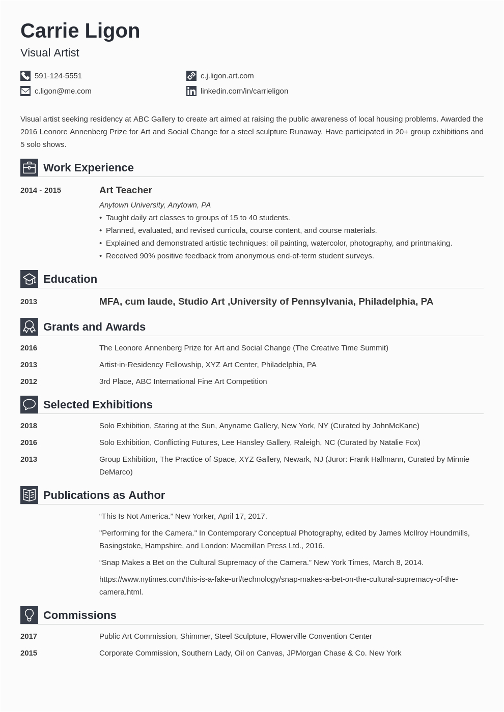 short and engaging pitch for resume