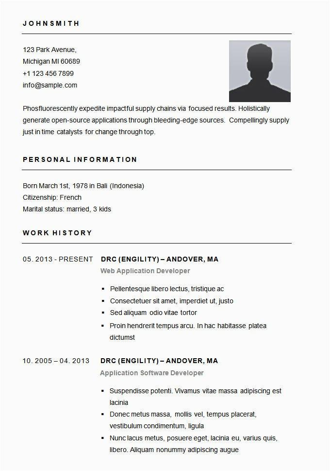 25 fresh simple resume format sample