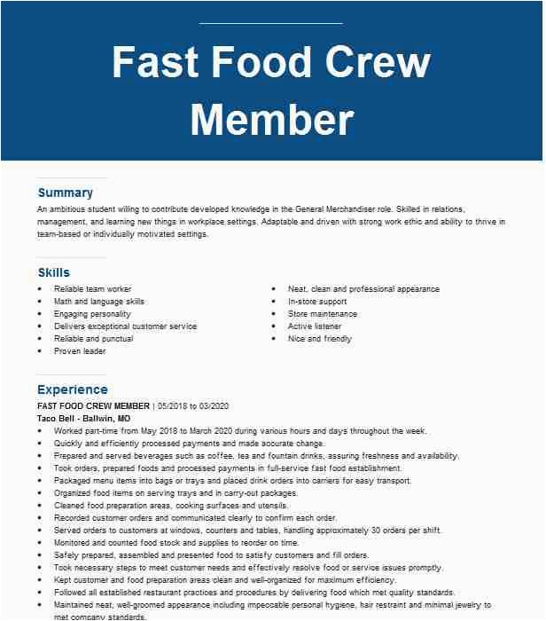 cashier fast food crew trainer 140ceb9361b3428f91a04f6a6e3708cf