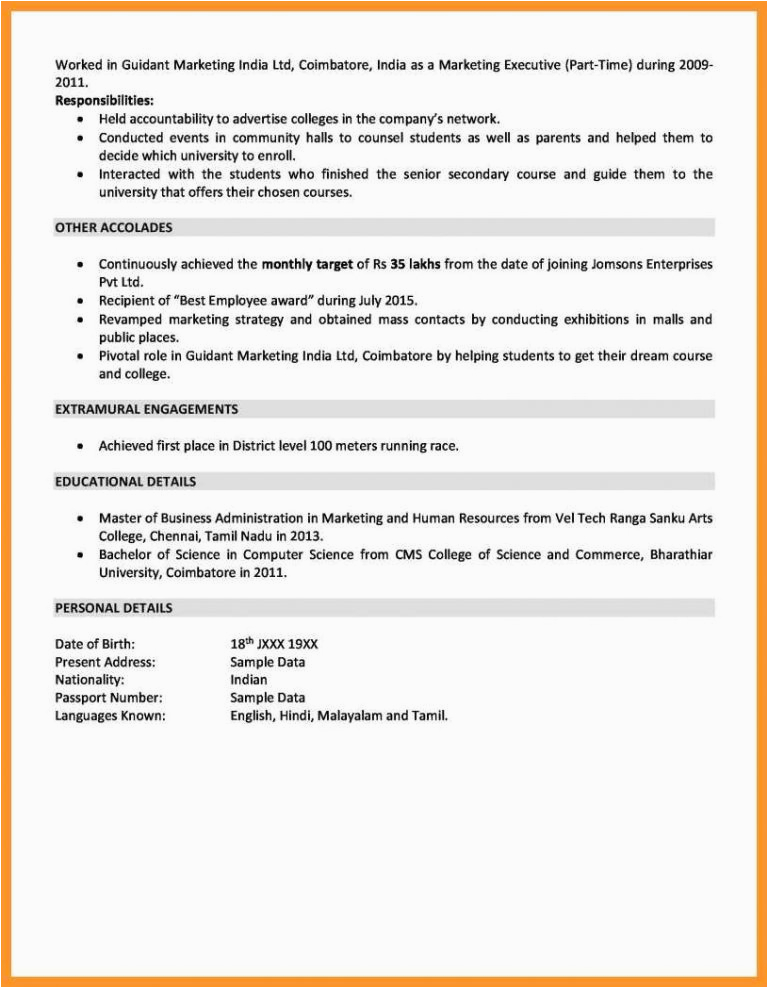 10 11 best resume samples for sales and marketing