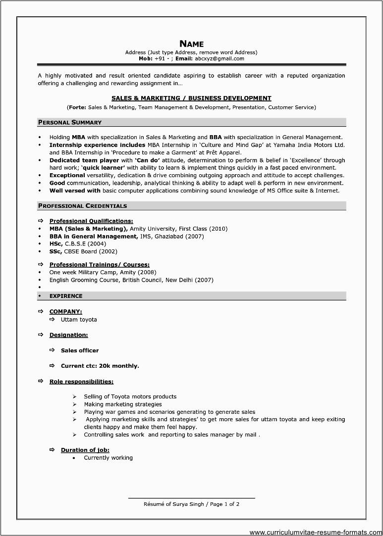 25 lovely good resume format for