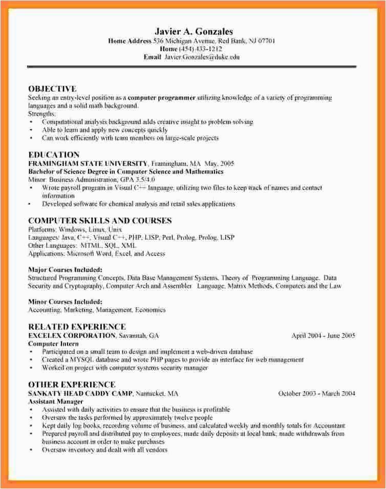 entry level data scientist resume