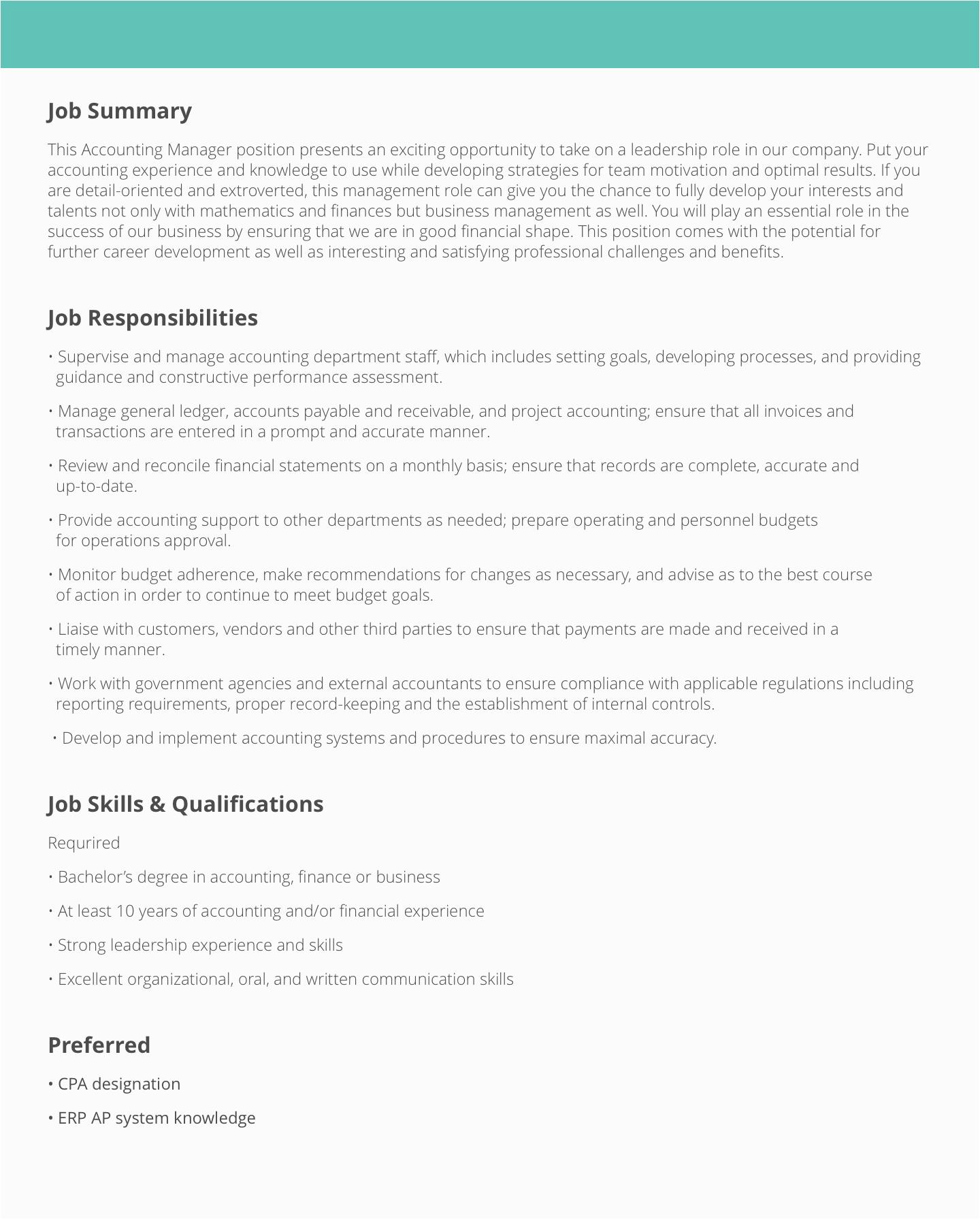 Detailed Resume Sample with Job Description Maintenance Job Description Templates & Samples