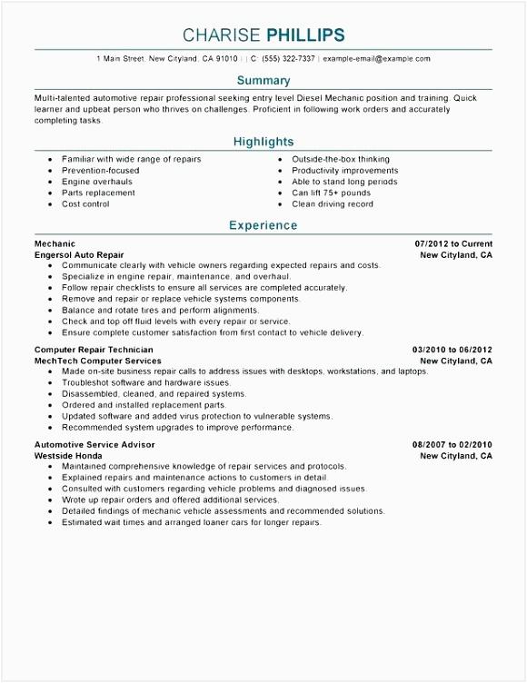 Entry Level Aircraft Mechanic Resume Sample 5 Sample Aircraft Mechanic Resume Njwsip