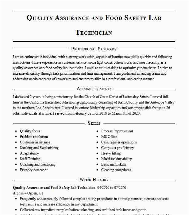 food quality assurance technician 1faf3fe33e6e e59f4f5439