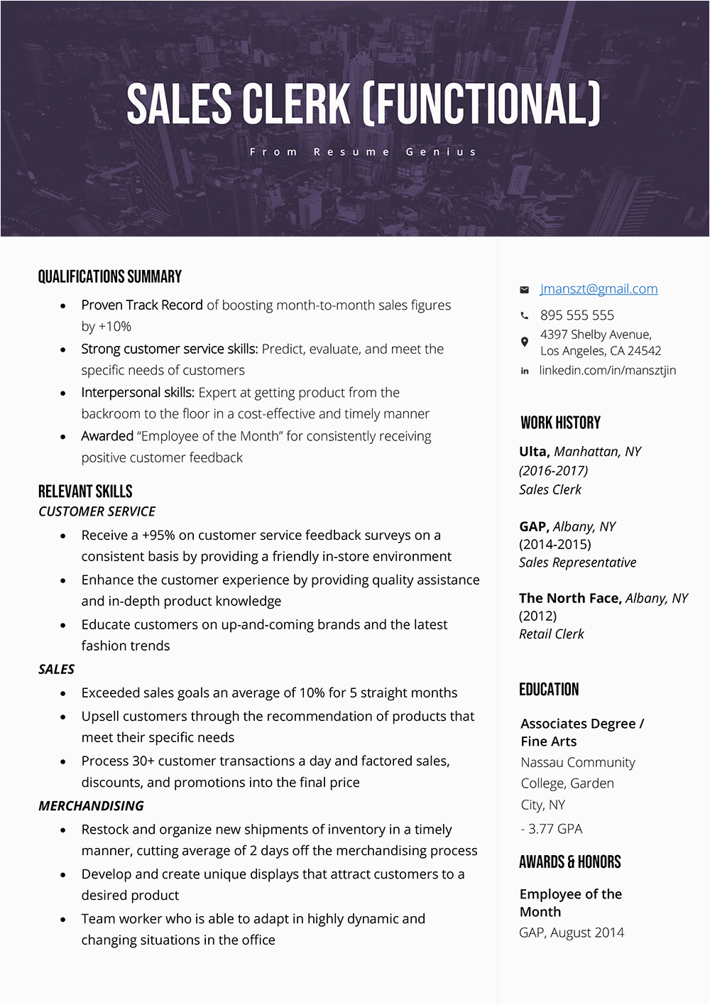 basic resume skills and abilities examples