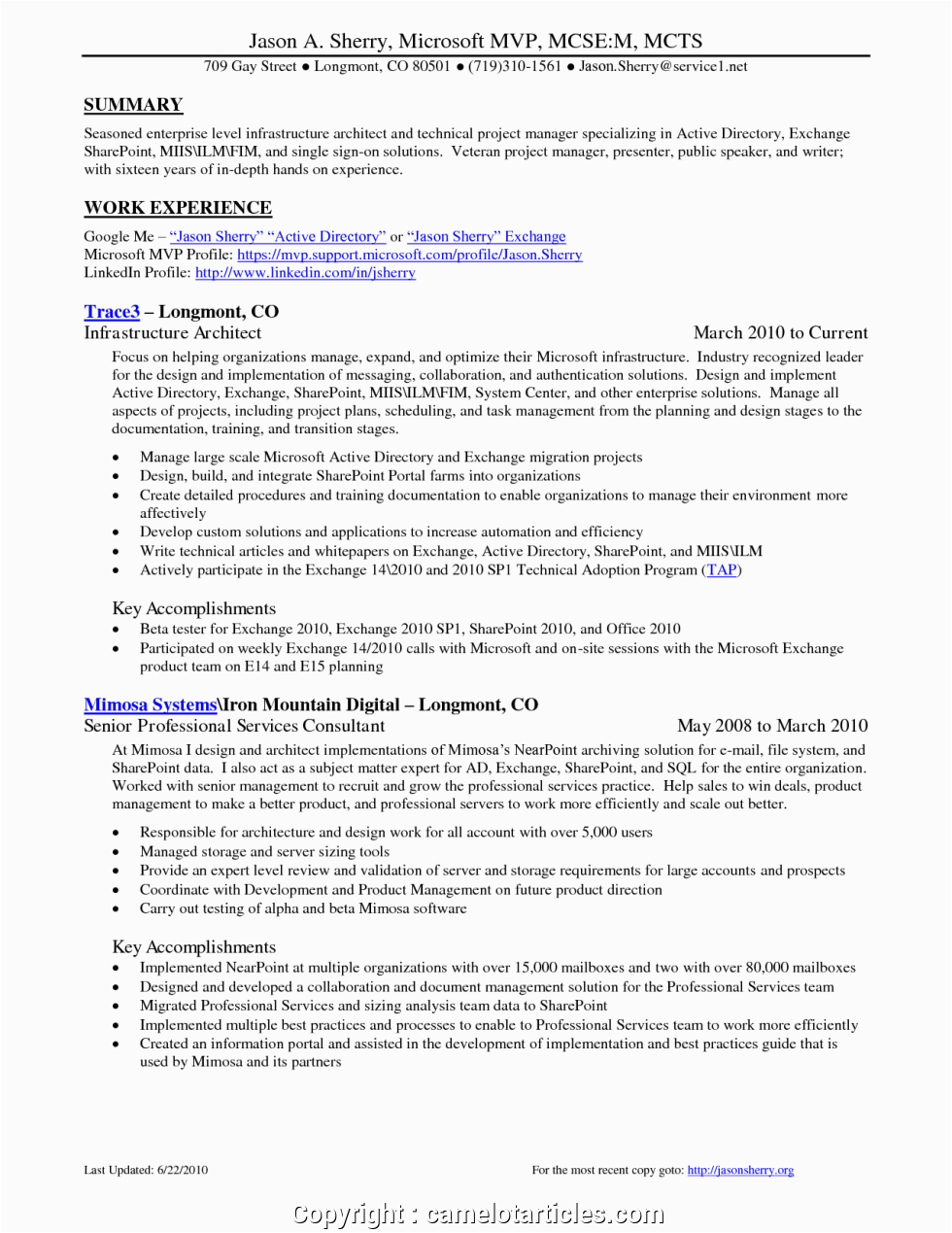 styles infrastructure project manager resume