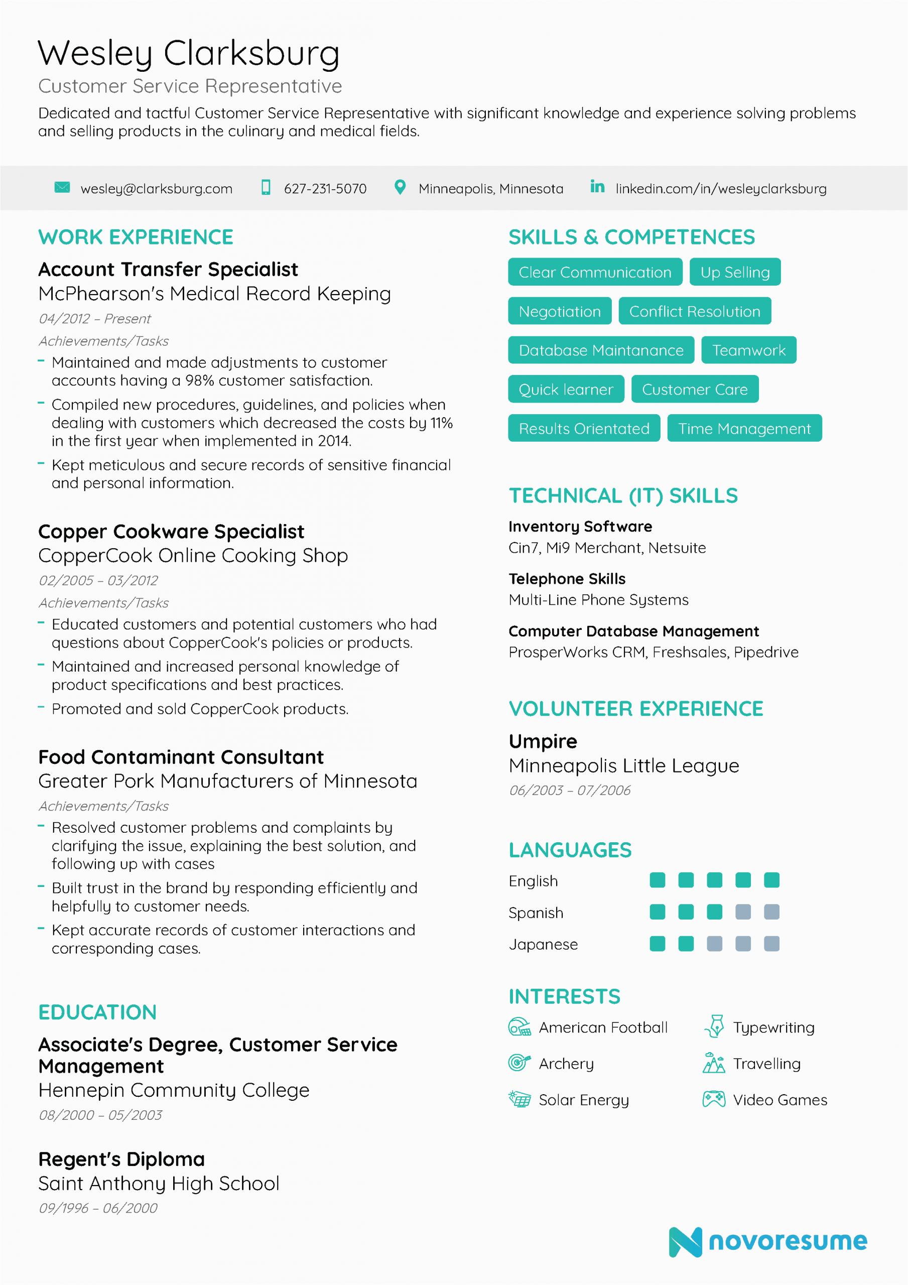 Professional Summary Resume Sample for Customer Service Customer Service Resume [2021] Examples & Guide