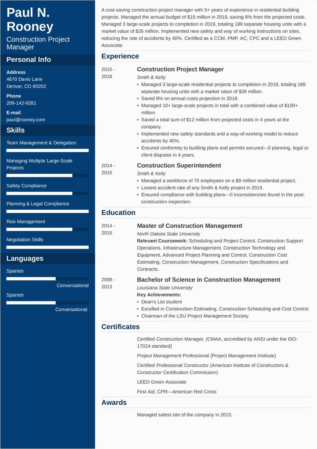 25 project manager resume template