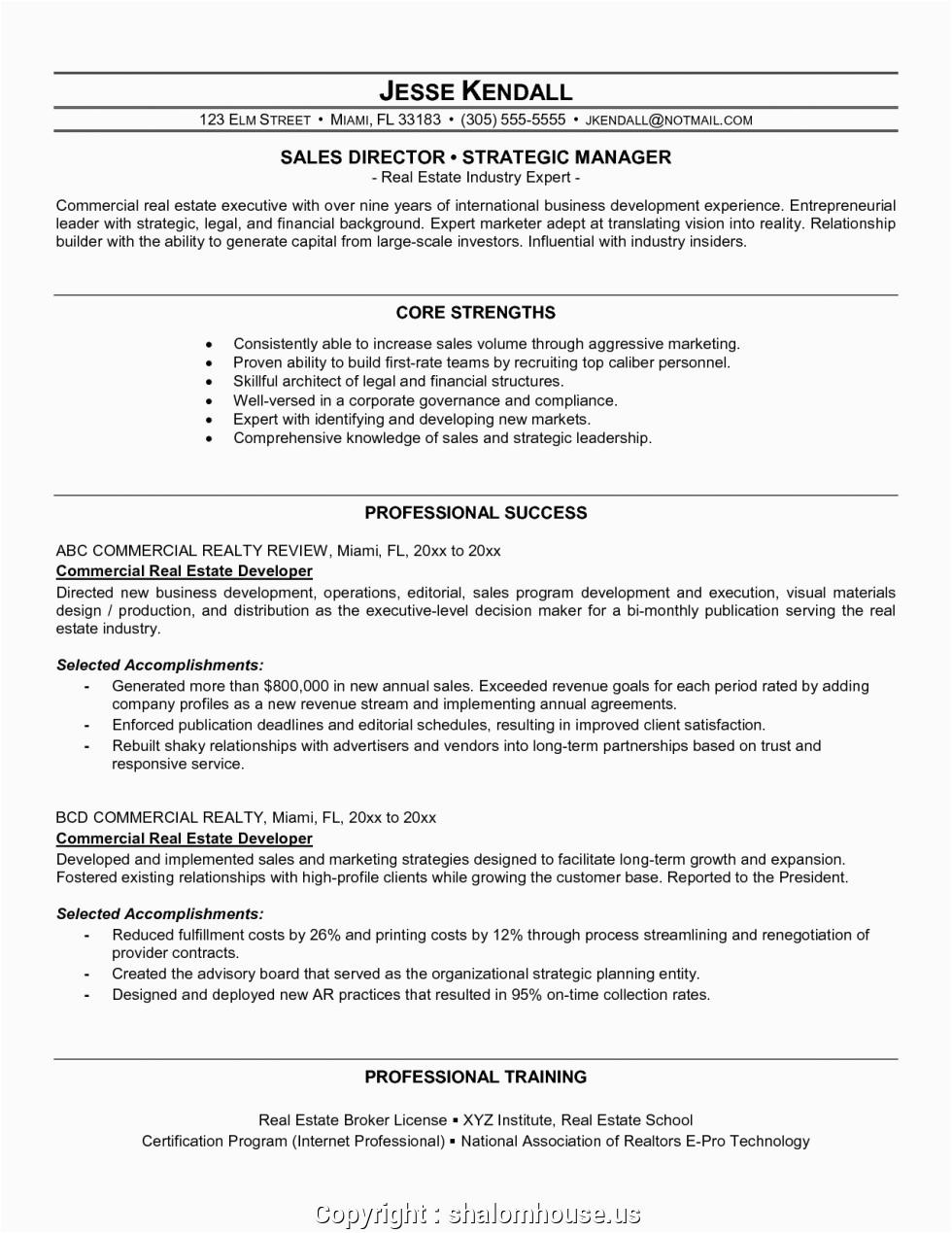 free real estate development resume sample