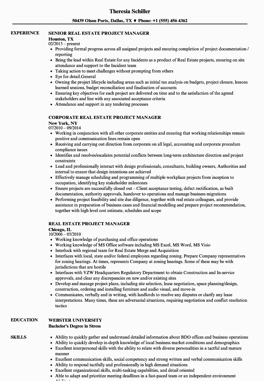 real estate broker resume pdf