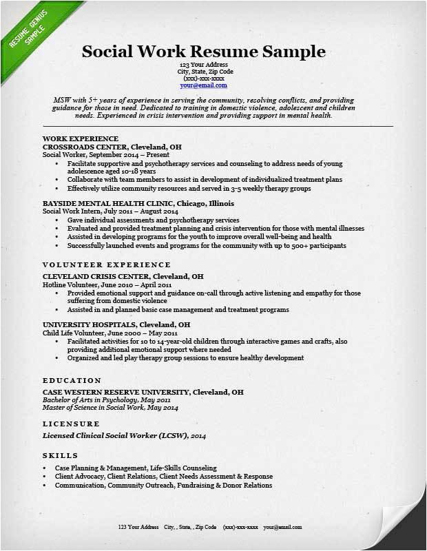 12 13 social worker resume format