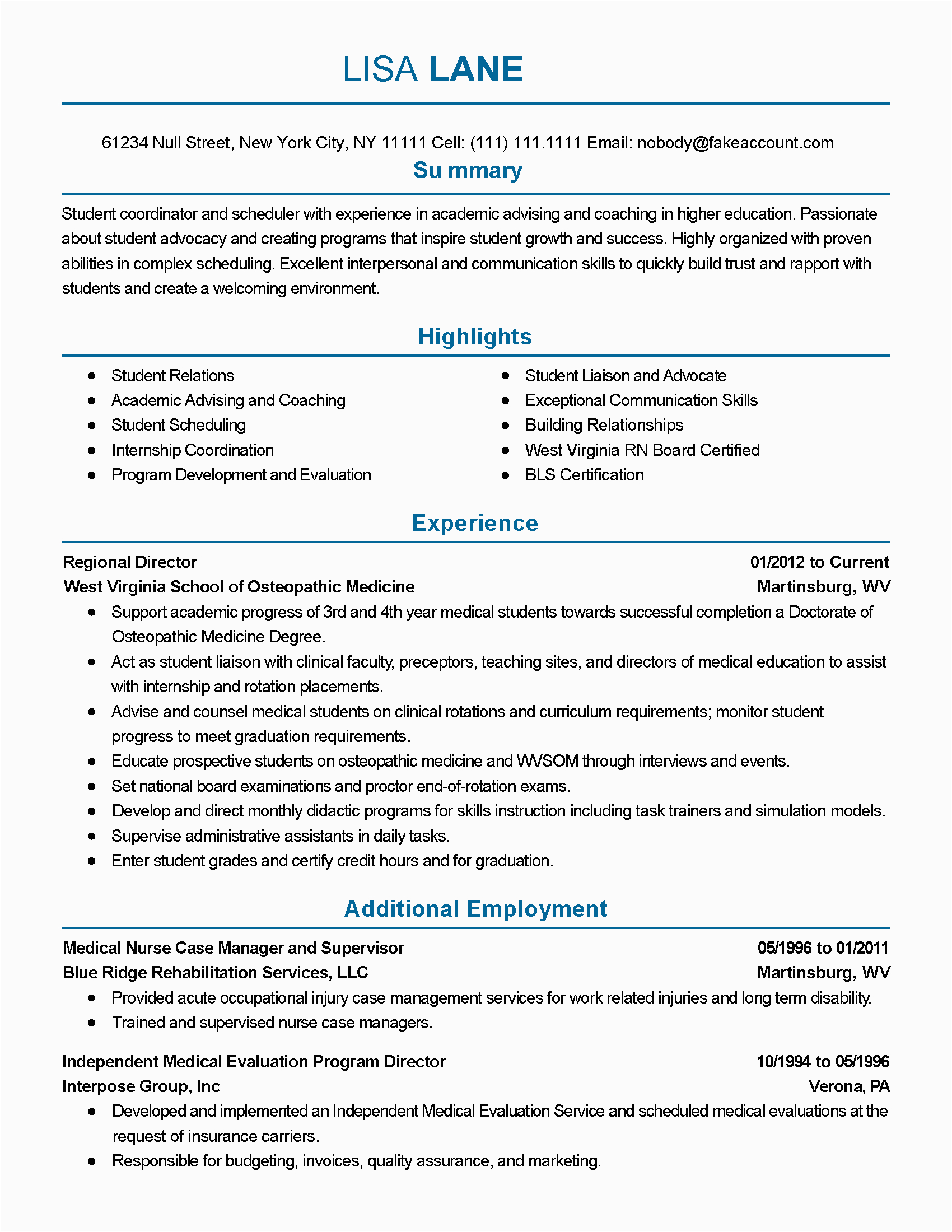 Resume Sample for Long Term Employment Resume Examples Long Term Employment Resume Examples