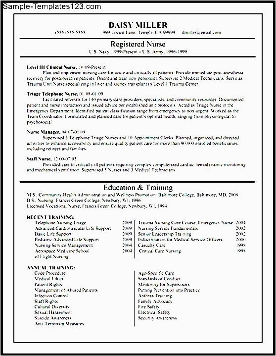Resume Sample for Nurses Fresh Graduate Fresh Graduate Nursing Resume Sample Templates Sample