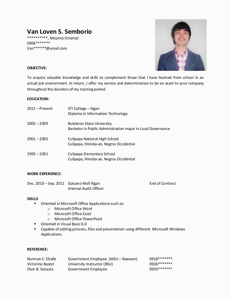 Resume Sample for Ojt Business Administration Sample Objectives In Resume for Ojt Business