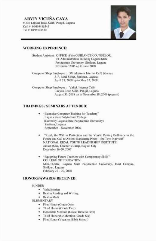 sample resume for college students still in school 2953