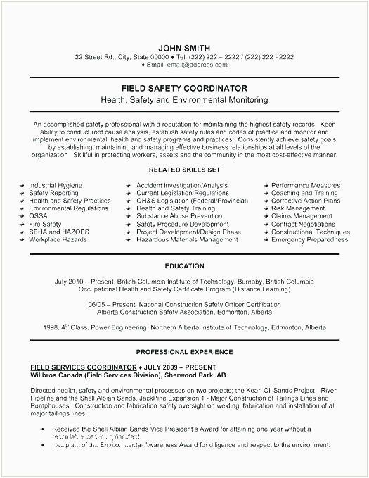 Safety Officer Resume Sample for Freshers Safety Ficer Fresher Cv format