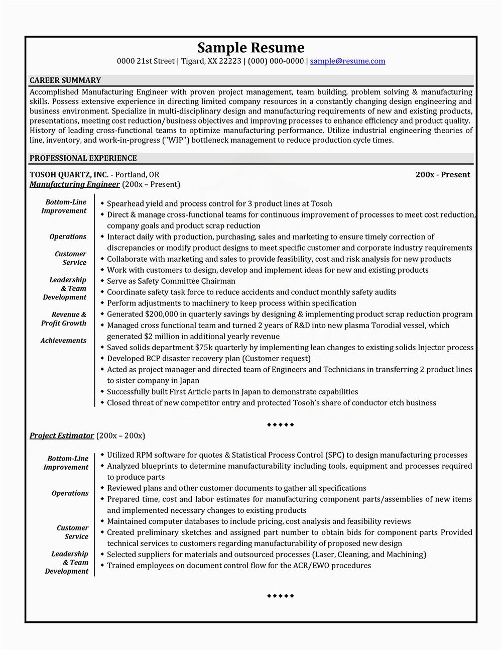 ivy league resume